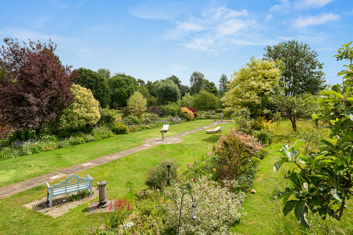 Overview of formal garden Berkshire