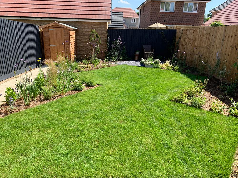 Arborfield Berkshire New Build HOuse Garden